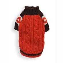 Ski Lodge Dog Sweater by Hip Doggie - Orange