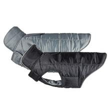 Skyline Puffy Reversible Dog Vest - Black/Charcoal
