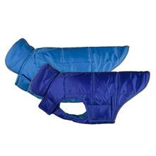 Skyline Puffy Reversible Dog Vest - Electric Blue/Cyan