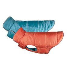 Skyline Puffy Reversible Dog Vest - Hot Coral/Lake