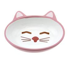 Sleepy Kitty Pink Cat Bowl