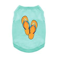Flip Flops Dog Shirt - Teal