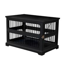 Merry Products Slide Aside Dog Crate and End Table by Merry Products - Black