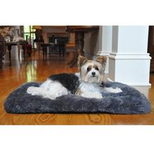 Slumber Minky Faux Fur Dog Cushion by Doggie Design - Gray