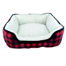 Slumber Pet Cuddler Dog Bed - Buffalo Red Plaid