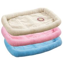 Slumber Pet Sherpa Crate Bed - Baby Pink