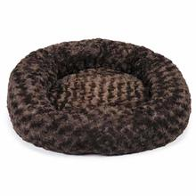 Slumber Pet Swirl Plush Donut Dog Bed - Chocolate Brown