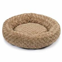 Slumber Pet Swirl Plush Donut Dog Bed - Oatmeal