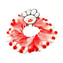 Smoochers Dog and Cat Scrunchie - Candy Cane Fuzzy Wuzzy