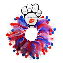 Smoochers Dog and Cat Scrunchie - Patriotic Fuzzy Wuzzy
