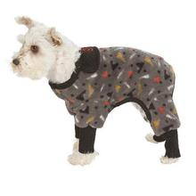 SnoJam in the Toofers Dog Fleece by Ultra Paws - Black/Gray