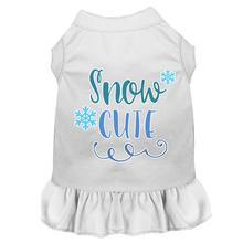 Snow Cute Dog Dress - White