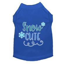 Snow Cute Dog T-Shirt - Blue