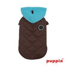 Snowcap Dog Coat by Puppia - Brown