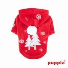 Snowday Dog Hoodie by Puppia - Red