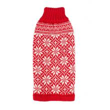Snowfall Alpaca Dog Sweater by Alqo Wasi - Red
