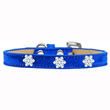Snowflake Widget Dog Collar - Blue Ice Cream