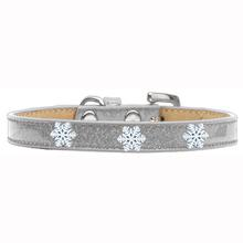 Snowflake Widget Dog Collar - Silver Ice Cream