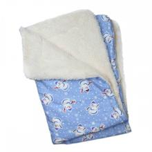 Snowman & Snowflakes Flannel Ultra-Plush Dog Blanket by Klippo