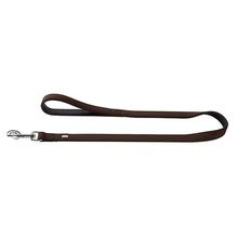 Softie Faux Leather Dog Leash by HUNTER - Brown/Black