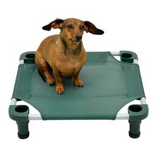 Solid Color Premium Weave Dog Cot - Hunter Green