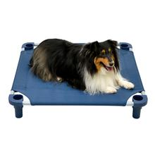 Solid Color Premium Weave Dog Cot - Navy