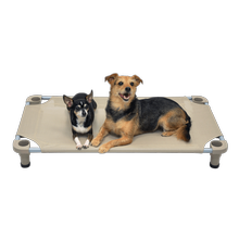 Solid Color Premium Weave Dog Cot - Taupe