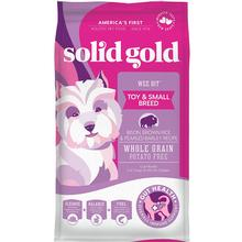 Solid Gold Wee Bit Toy & Small Breed Dry Dog Food - Bison, Brown Rice & Pearled Barley Recipe