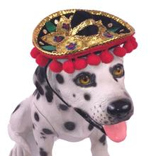 Sombrero Dog Hat - Black with Poms