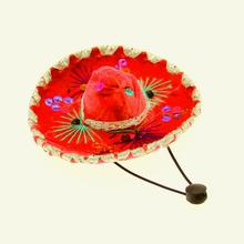 Sombrero Dog Hat - Red