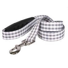 Southern Dawg Gingham EZ-Grip Dog Leash by Yellow Dog - Gray