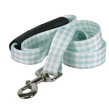 Southern Dawg Gingham EZ-Grip Dog Leash by Yellow Dog - Mint