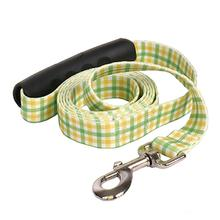 Southern Dawg Gingham EZ-Grip Dog Leash by Yellow Dog - Yellow and Green