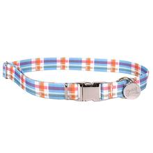 Southern Dawg Madras Dog Collar by Yellow Dog - Blue