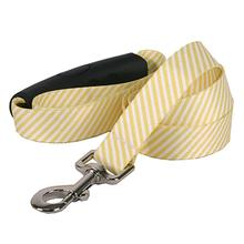 Southern Dawg Seersucker EZ-Grip Dog Leash by Yellow Dog - Yellow