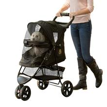 Special Edition No-Zip Pet Stroller - Gold Monogram