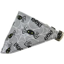 Spiders Halloween Bandana Dog Collar - Black