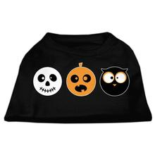 The Spook Trio Halloween Pet T-Shirt - Black