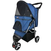 Sport Dog Stroller with Removable Cup Holder by Dogline - Blue