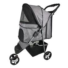 Sport Dog Stroller with Removable Cup Holder by Dogline - Gray