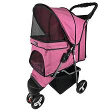 Sport Dog Stroller with Removable Cup Holder by Dogline - Pink