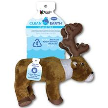 Spunky Pup Clean Earth Plush Dog Toy - Caribou