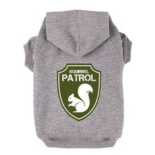 Squirrel Patrol Dog Hoodie - Gray