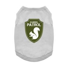 Squirrel Patrol Dog Shirt - Gray