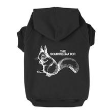 The Squirrelinator Dog Hoodie - Black