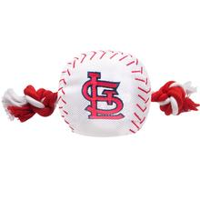 St. Louis Cardinals Nylon Plush Baseball Rope Dog Toy