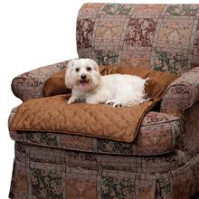 Sta-Put Dog Bed Bolstered Furniture Protector by Solvit - Cocoa
