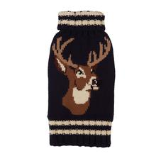 Stag Dog Sweater from Fab Dog - Navy