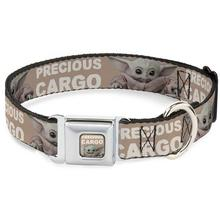 Star Wars The Child Precious Cargo Seatbelt Buckle Dog Collar by Buckle-Down - Tan/White