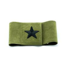 Star Wizzer Dog Belly Band by Susan Lanci - Olive